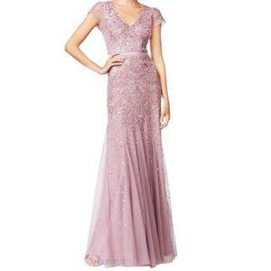 Adrianna Papell Sz 8 Dusty Rose/Mauve Formal Dress